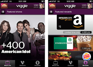 Viggle Rewards Tv and Music App