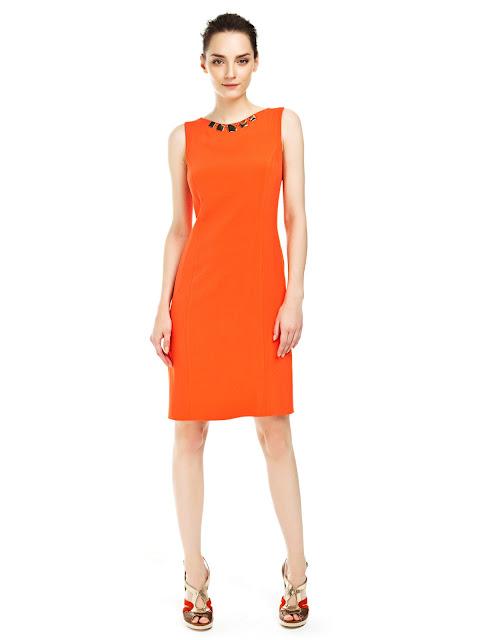 turuncu kısa elbise, gece elbisesi,