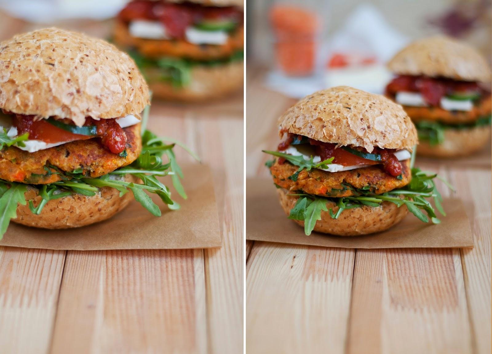 Wegetariańskie burgery z soczwicy