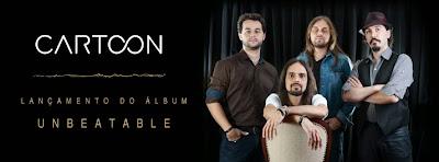 """Álbum """"Unbeatable"""" da banda de Rock Cartoon será lançado no Teatro Bradesco no dia 16 de novembro de 2013."""