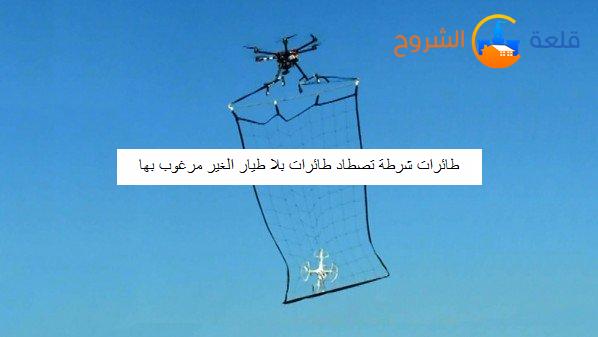 طائرات شرطة تصطاد طائرات بلا طيار الغير مرغوب بها