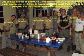 Ceia de natal no 1°bpm em 25/12/2012