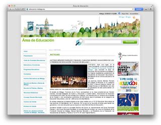 Web del Área de Educación