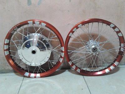 Velg DBS Red Ring 14 Untuk Mio Dengan Tromol Trusty