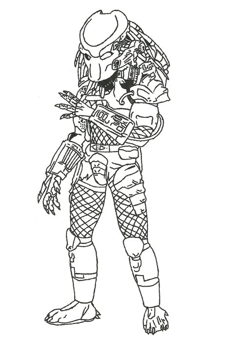 Predator Coloring Pages For Kids Disney Coloring Pages
