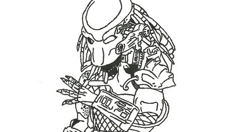 predator coloring pages 28 images how to draw a xenomorph step