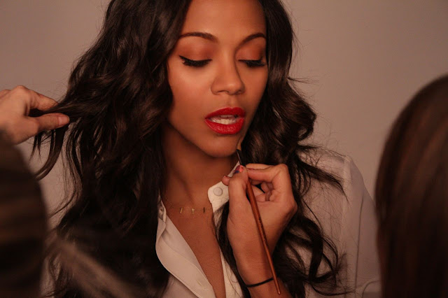 Behind the scenes with actress Zoe Saldana and Lenscrafters