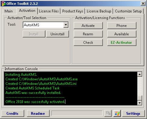 Tutorial Cara Aktivasi Microsoft Office 2010 Menggunakan Tools Office Toolkit 2.3.2