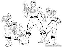 Gambar Power Ranger Untuk Diwarnai