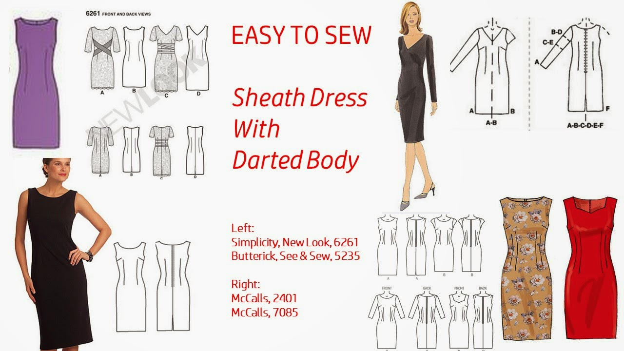 7 Best Sheath Dress Patterns With Vintage Style Easy To Sew