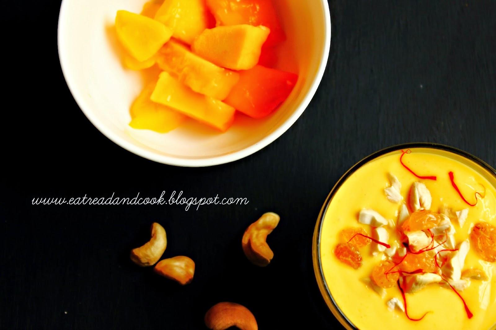 how to make mango shrikhand or amrakhand