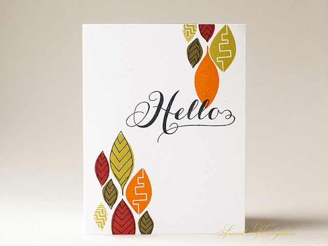 Greeting Card with Leafy Greens from Paper Smooches by Sweet Kobylkin