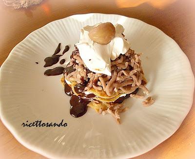 Montebianco o Mont Blanc ricetta dolce tipica della Valle d'Aosta a base di castagne