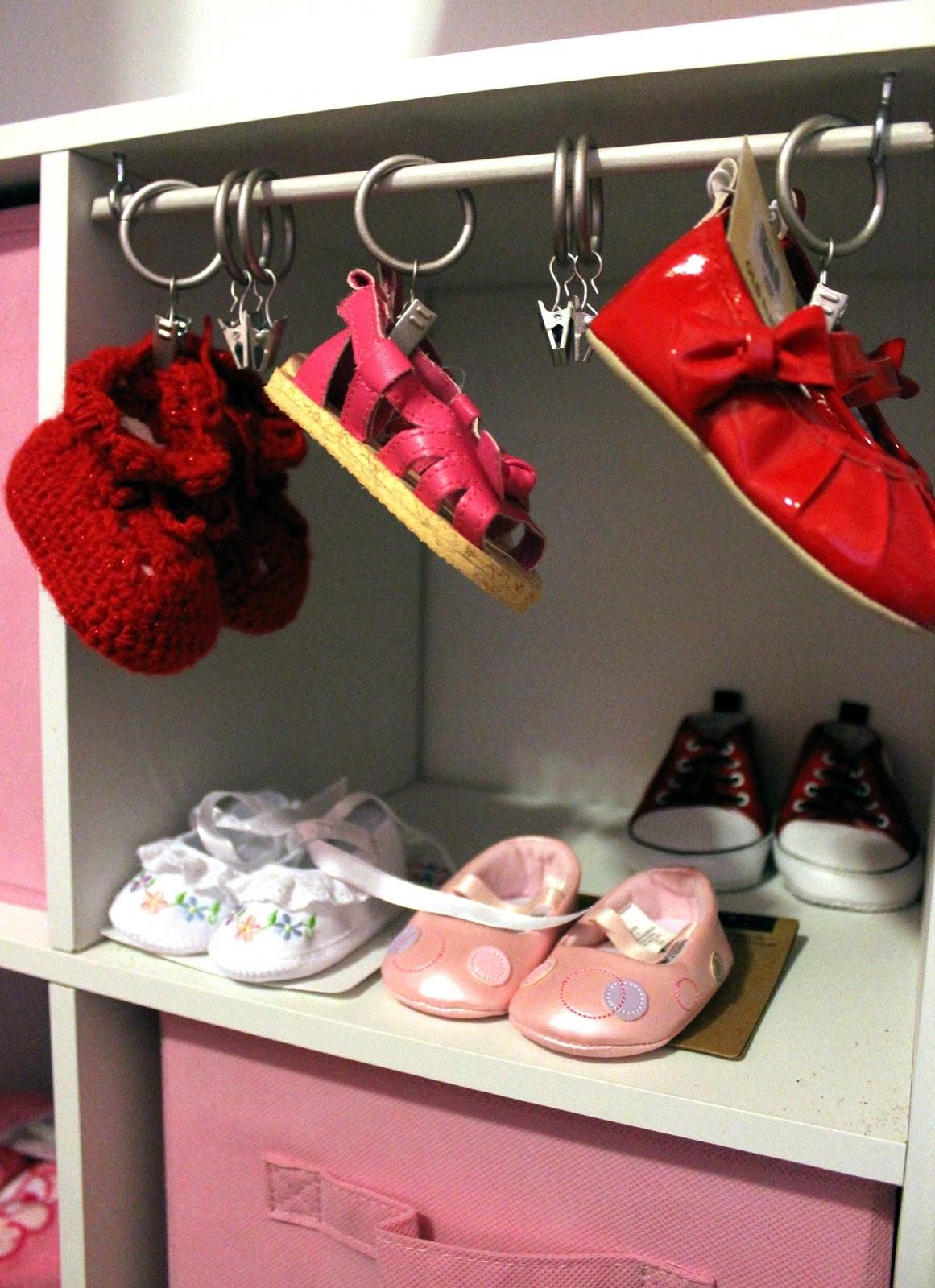 Dibble dabbles nursery itty bitty baby shoes - Baby shoe organizer ideas ...