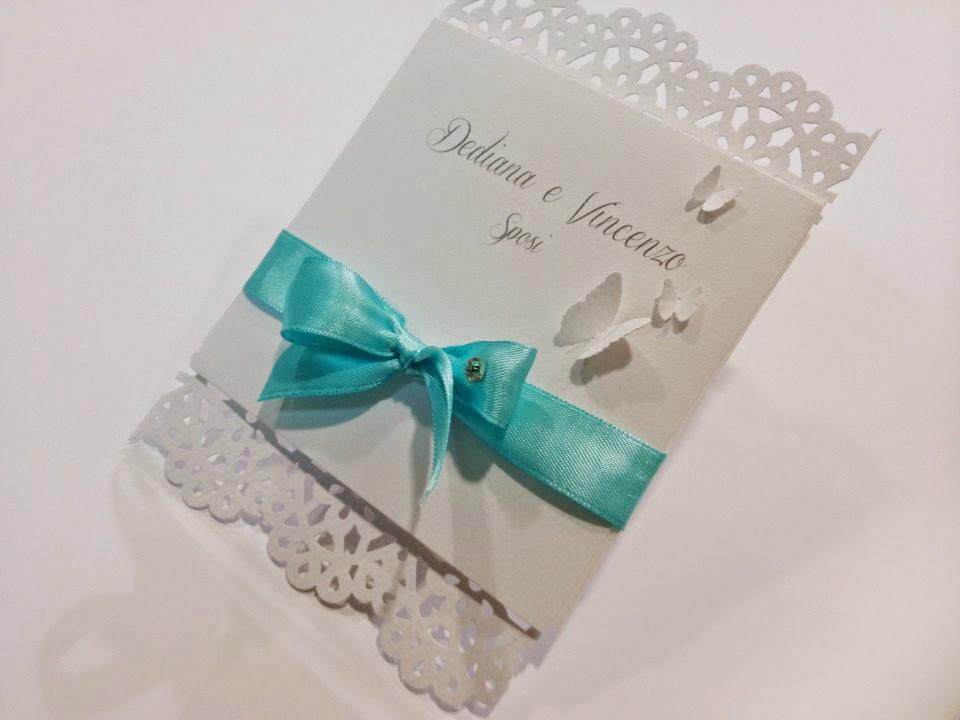 Matrimonio In Tiffany : Matrimonio in tiffany style partecipazione handmade