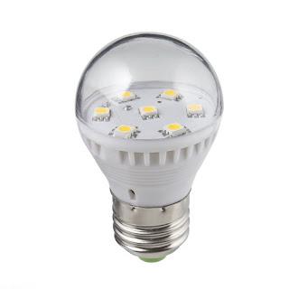 7 SMD LED E27 2.5W Warm White Light Lamp Bulb Globe 900LM 110-240V 110V 220V