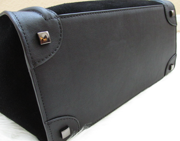 Details bottom: BAGINC Vanessa Large Tote Suede Leather Black Bag - REVIEW