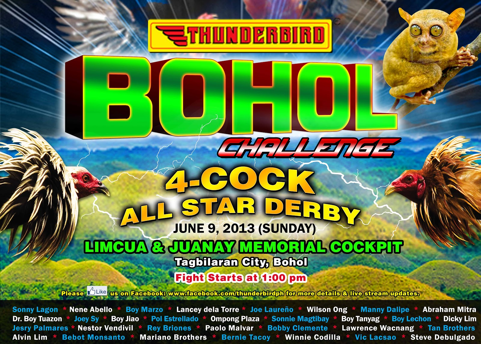 2013 THUNDERBIRD BOHOL CHALLENGE 4-COCK ALL-STAR DERBY
