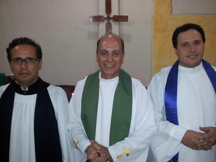 Rev.Dom Josué Augusto, Rev. Fabio Rodrigues e Ministro Marcos Baldan