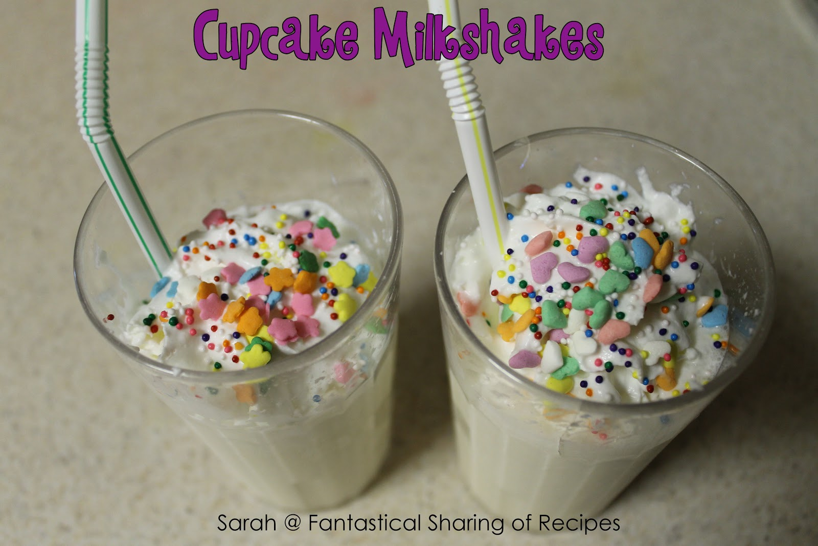 Fantastical Sharing of Recipes: Cupcake Milkshakes ...