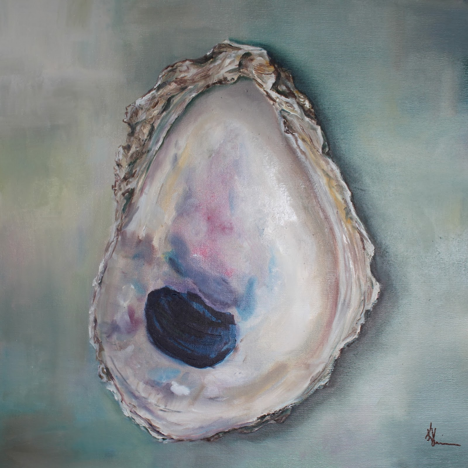 Artists of texas contemporary paintings and art gulf oyster shell by