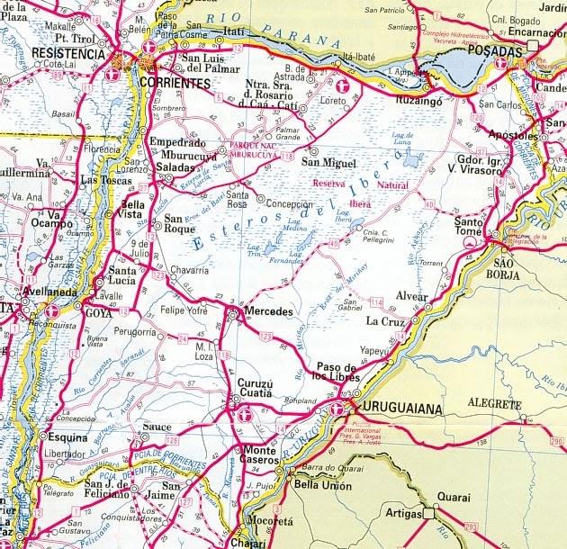 Solo Corrientes Mapa De Rutas De La Provincia De Corrientes
