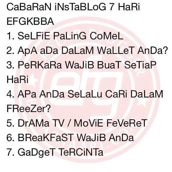 Drama TV / Movie Feveret CABARAN7HARI INSTABLOG EFGKBBA