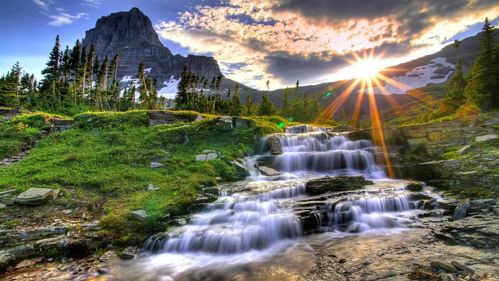beautiful scenic waterfall hd wallpaper ~ wallpapersqu