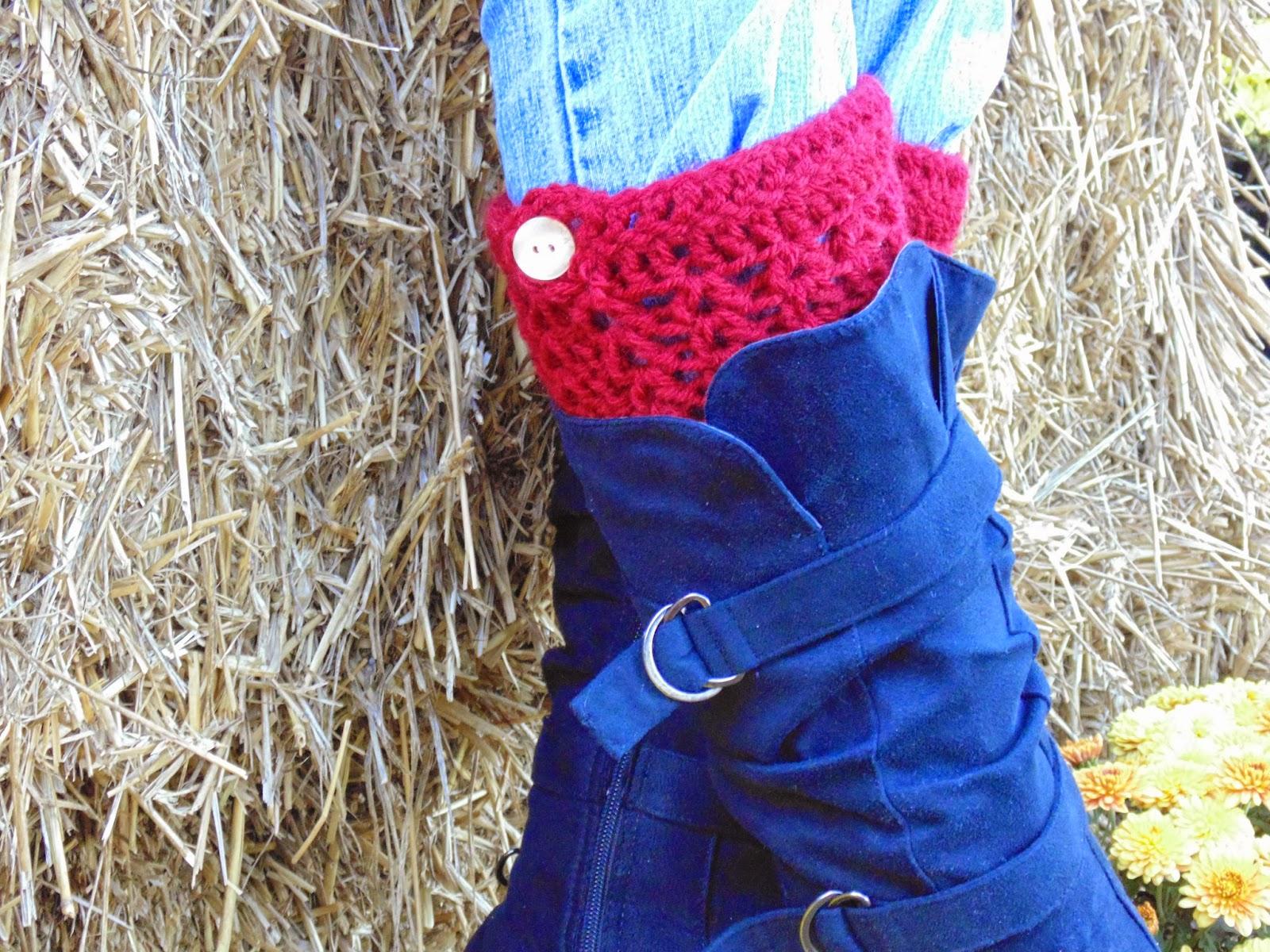 RAKJpatterns, free boot cuff crochet pattern, crochet pattern,