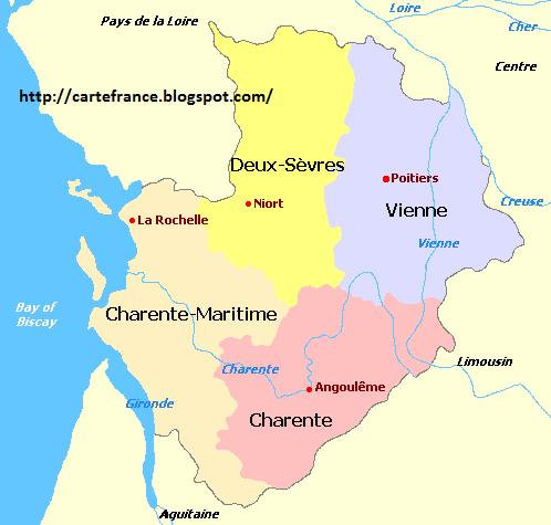 Carte Poitou Charentes Departement Carte France Departement Region