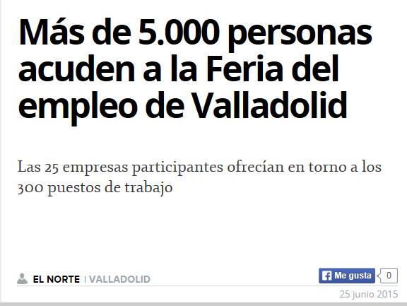 FERIA DE EMPLEO VALLADOLID