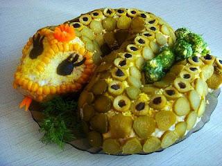 Салат -  Змея