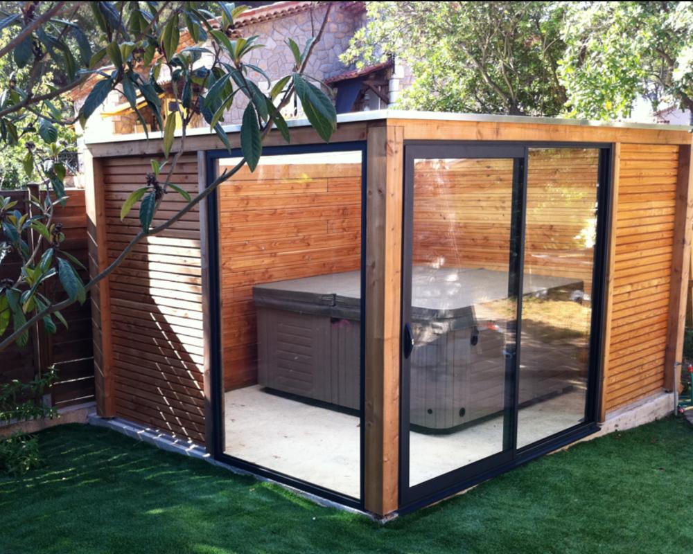 V randa permis de construire ou d claration pr alable - Abris pour spa exterieur ...