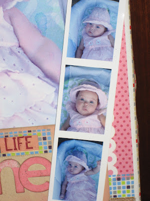 Cuadro scrapbooking bebé