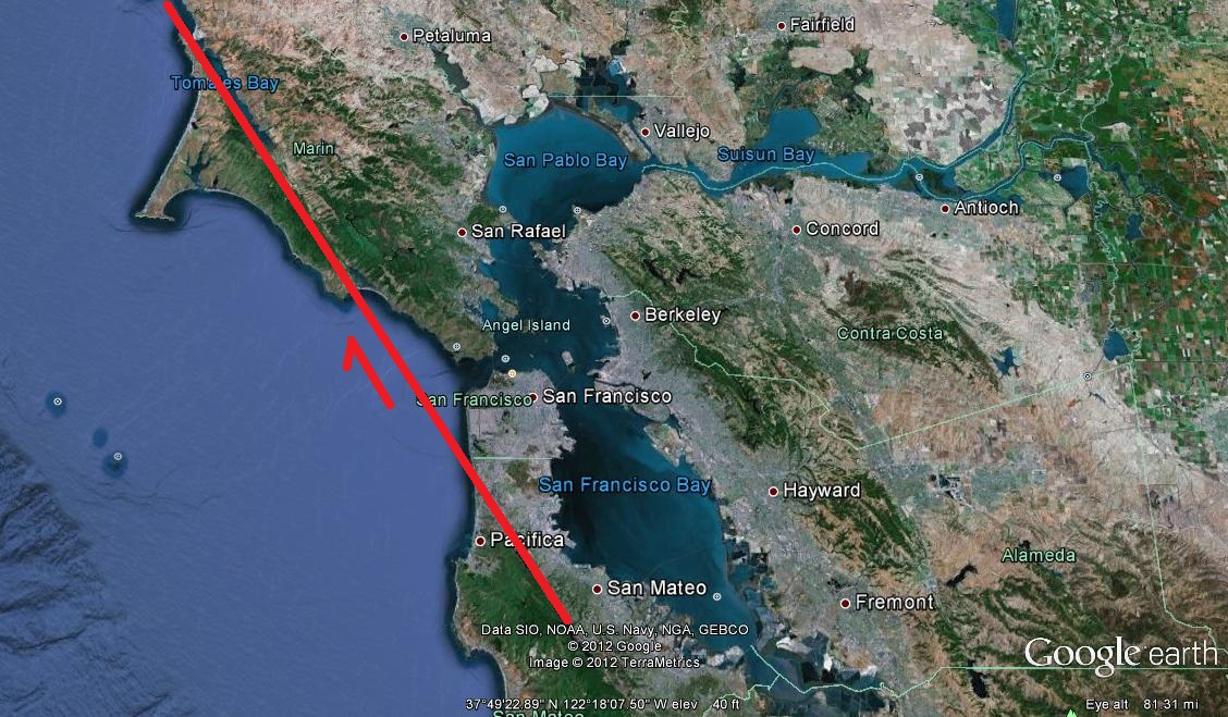 Geotripper Not Seeing The San Andreas Fault In The Bay Area - San andreas fault map bay area