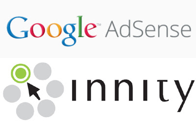 Gambar logo google adsense dan logo innity