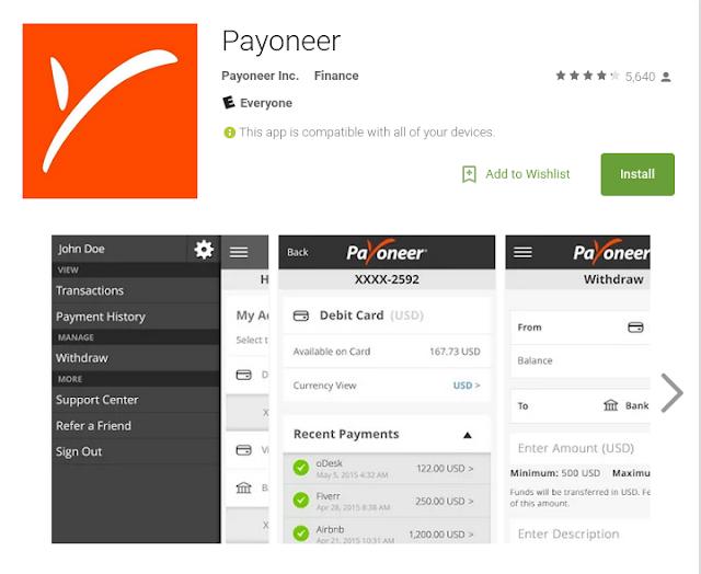 DriveMeca recibiendo pagos con Payoneer