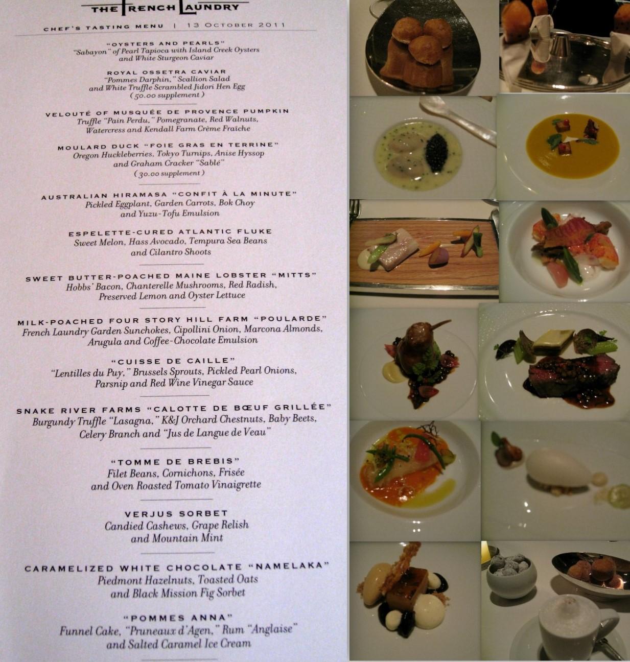 French Restaurant Dinner Menu Viewing Gallery