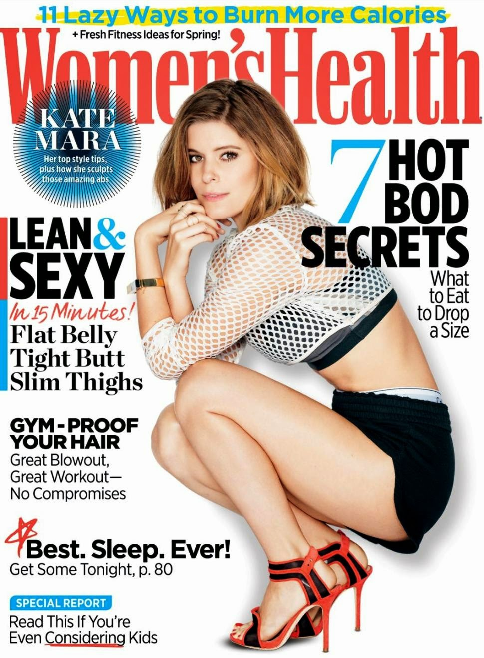 Actress: Kate Mara for Women's Health