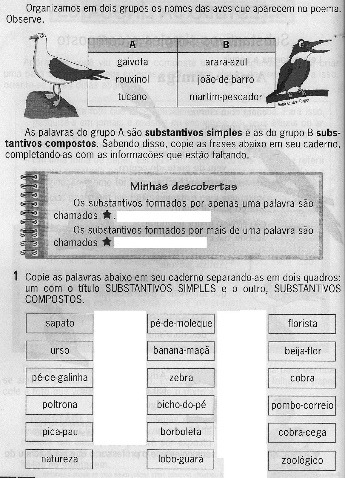 SUBSTANTIVOS SIMPLES E COMPOSTOS