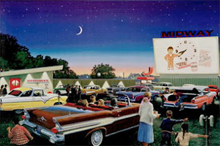 The classic American drive-in theater
