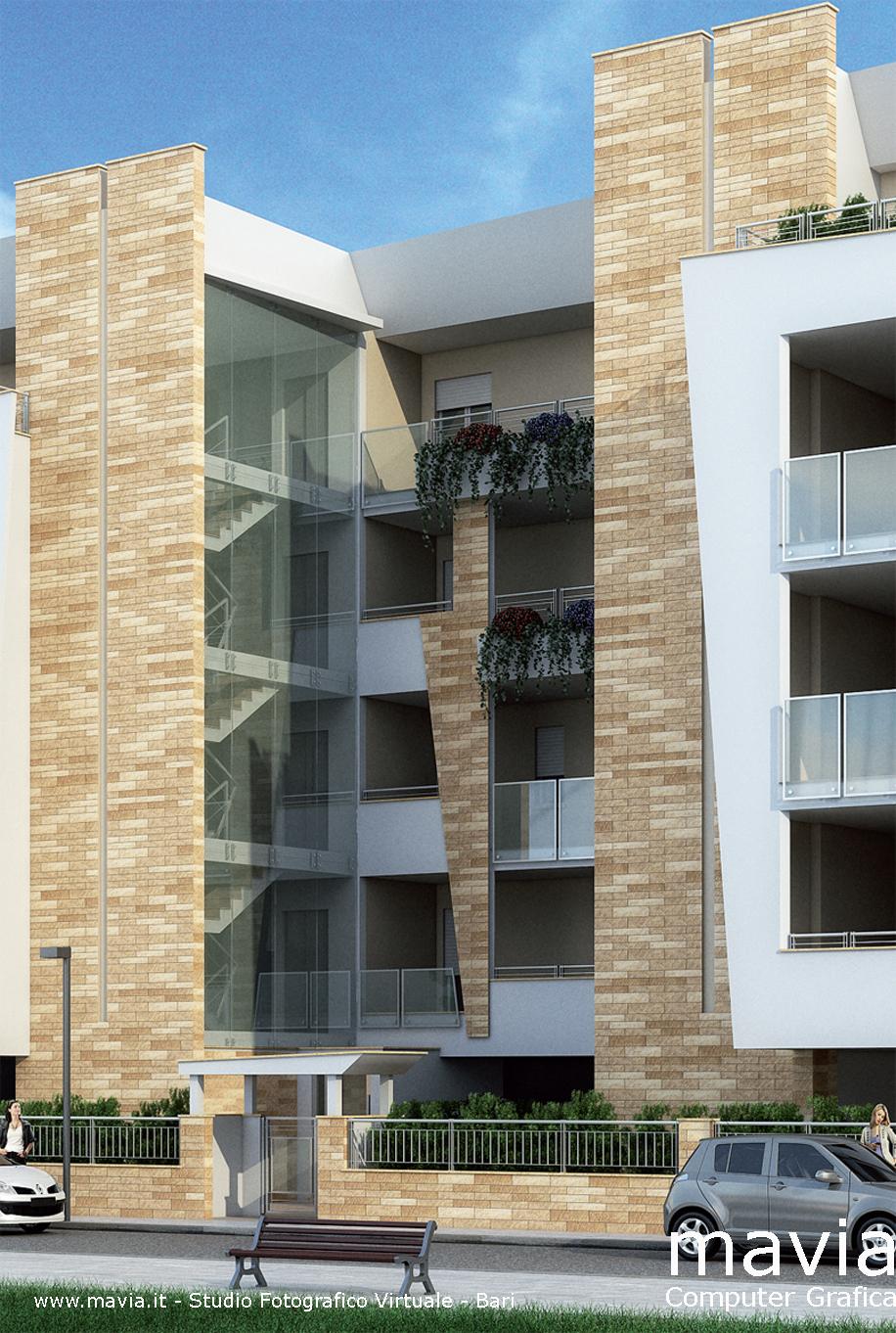 Facciate case moderne esterni bianco con tocchi di for Facciate esterne case moderne