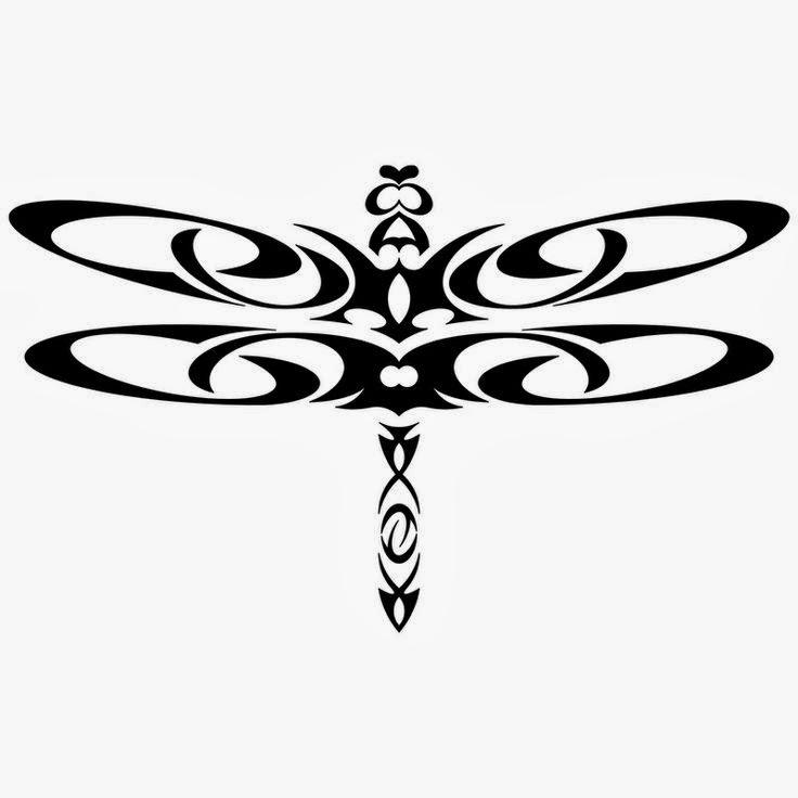 Dragonfly Maori tattoo stencil