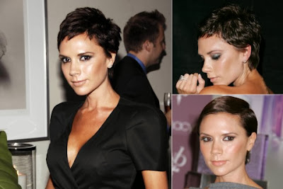 Victoria Beckham Casual Short Hairstyle Curly