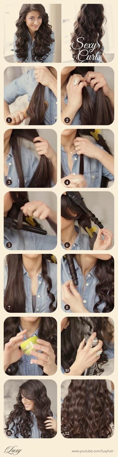 coiffure cheveux long bouclés