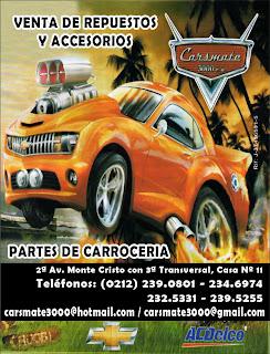 CARSMATE 3000, C.A. en Paginas Amarillas tu guia Comercial
