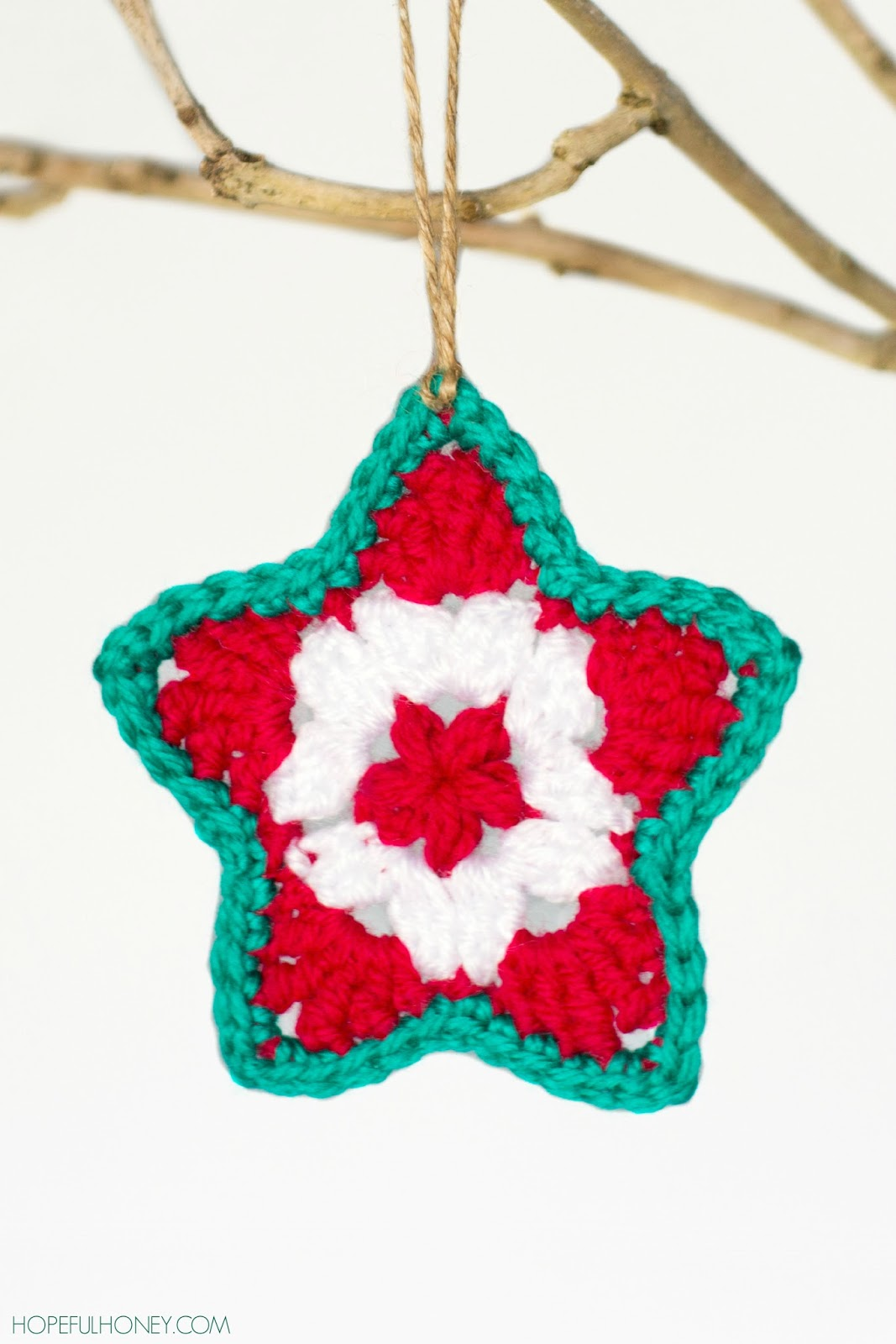 Create christmas ornament - Star Christmas Ornament Crochet Pattern