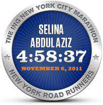 Finisher of NYC Marathon