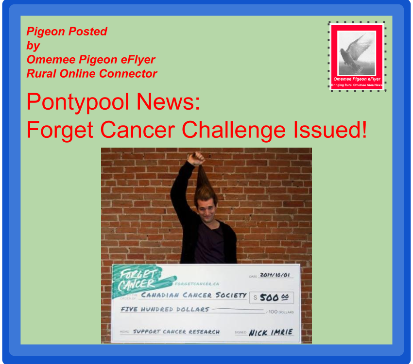 Omemee Pigeon eFlyer Rural News Connector - Pontypool News Forget CancerCampaign Launched