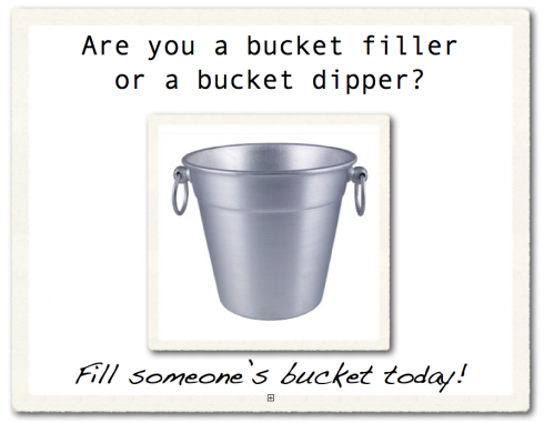Life of an Educator: How Full is Your Bucket?